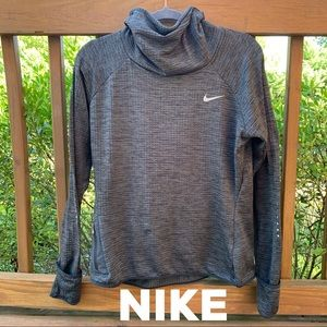 Nike Tops - Nike Dri - Fit Running Gray Cowl Neck Pullover